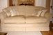 Sofa bed with feather cushions